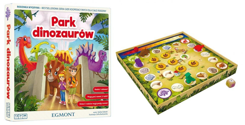 gry planszowe dla dzieci, park dinozaurów