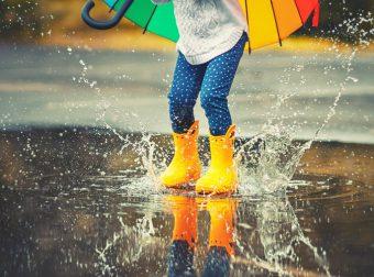 w co się bawić z dzieckiem w czasie deszczu