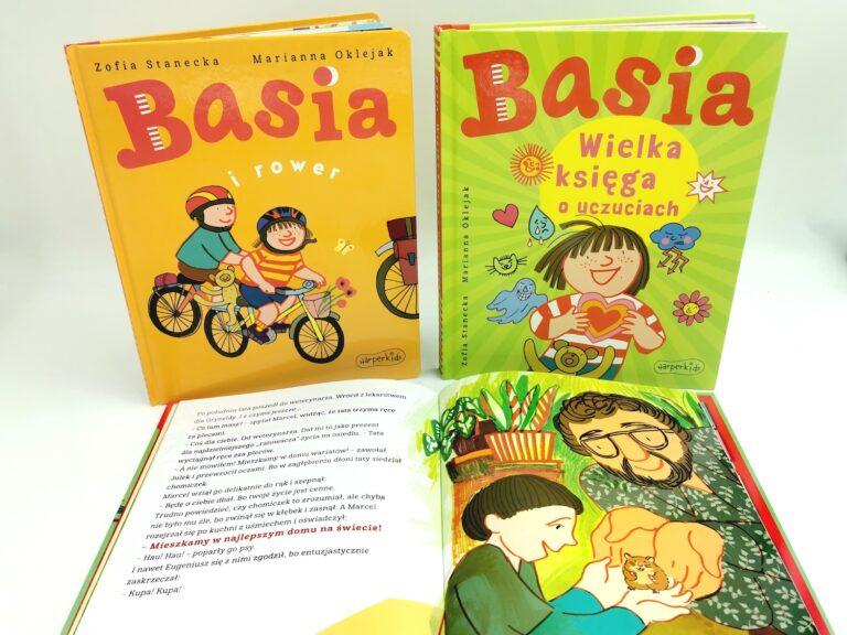 książeczki o basi, basia wielka księga uczuć, basia i rower, basia i przyjaciele
