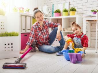 wiosenne porządki, sprzątanie z dzieckiem